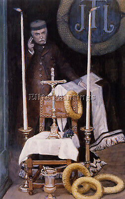 Tissot Portrait Of The Pilgrim Artist Painting Reproduction Handmade Oil Canvas