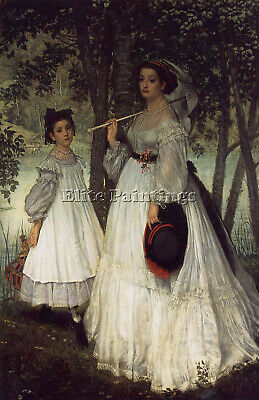 Tissot The Two Sisters Portrait Artist Painting Reproduction Handmade Oil Canvas