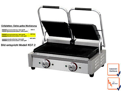 Catering Stainless Griddle, Panels Smooth/Grooved, pro Electric Panini Grill