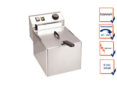Pro Stainless Steel Fryer 8Liter, Catering Industry Electric Large Fryer
