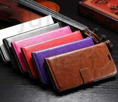 Case for iPhone 6 7 8 5s Plus XR XS Max Cover Real Genuine Leather Flip Wallet