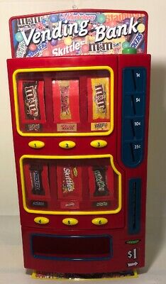 Mars 2004 Candy Dispenser Vending Bank M&Ms,Twix,Snickers, Skittles,Red&yellow