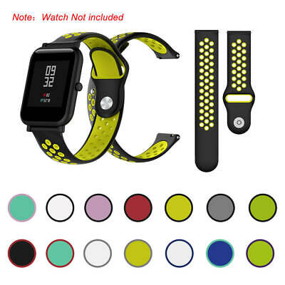 Sport Sports 20MM Bicolourable Silicone Wrist Strap For Huami Amazfit Bip A1608
