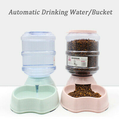 Big Automatic Food Water Dispenser Dish Bowl Feeder for Pet Dog Puppy Cat 3.8L