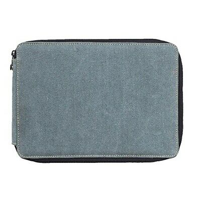 """Speedball Canvas Covered Pencil Case 7.5""""x10.5""""x1.25""""-steel Blue -holds 120"""