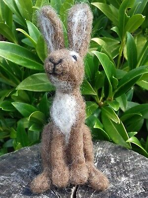 Hare British Rare Breed wool needlefelt kit makes 1 lovely Brown hare WULYDERMY