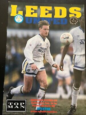 Leeds United v Everton Zenith Data Cup Northern Final Season 1990-1991  MINT