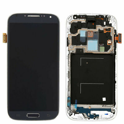 For Samsung Galaxy S4 i337 i9500 i9505 Black LCD Touch Screen Digitizer Frame US