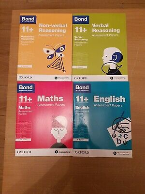 Bond 11+:Assessment Papers 5-6 years 4 Books Collection Set NEW