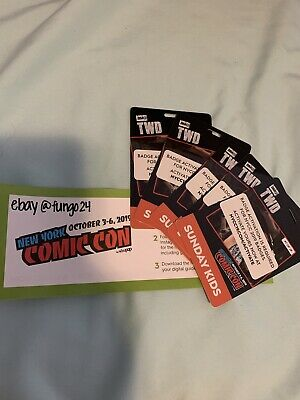 **New York Comic Con NYCC 2019 SUNDAY KIDS October 6th Ticket PASS** ACTIVATED!!