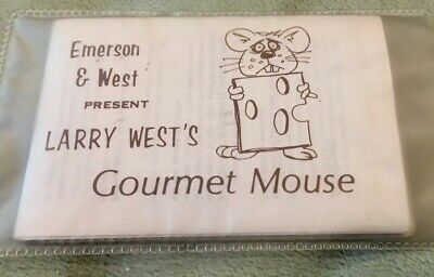 Emerson & West Gourmet Mouse Vintage Magic Trick In Excellent Condition-Rare!