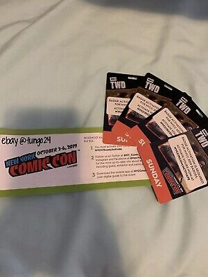 New York Comic Con NYCC 2019 SUNDAY Adult Ticket(s) CONFIRMED & Activated