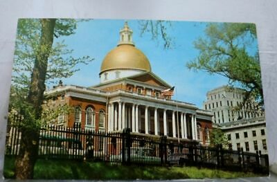 Massachusetts MA State House Boston Postcard Old Vintage Card View Standard Post