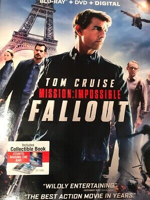 MISSION: IMPOSSIBLE - FALLOUT (Slipcover + Blu-ray + DVD) >NEW< See Notes