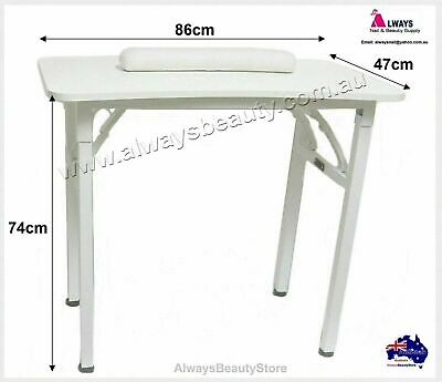 Portable Manicure Table + Hand Cushion Nail Table Mobile Service Sturdy Frame