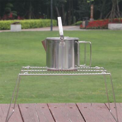 Portable Folding Campfire Grill Rack Outdoor Stainless Steel for Outdoor