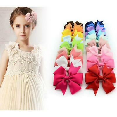 Hot Baby/Girl Ribbon Bow Hair Pin Alligator Flower Hair Accessories JJ
