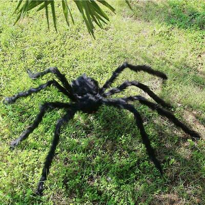 Plush Giant Spider Decoration Halloween Haunted House Garden Props I2N4