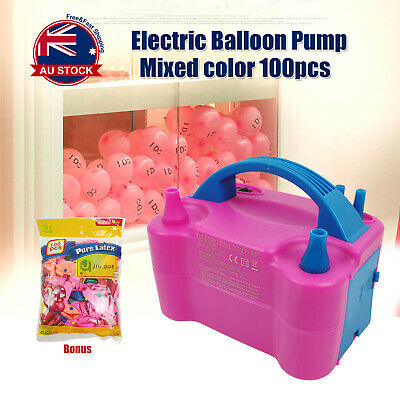Air Balloon Pump 2 Nozzle Electric Automatic Portable Inflator Party Wedding  A