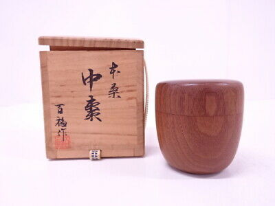 4337381: Japanese Tea Ceremony / Lacquered Tea Caddy By Mulbery / Artisan Work N