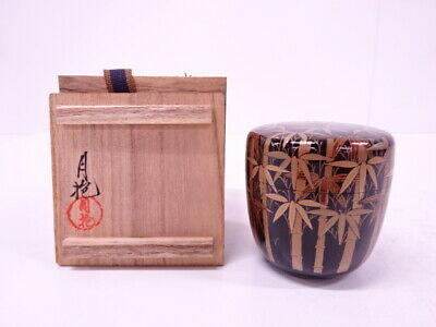 4337373: Japanese Tea Ceremony / Lacquered Tea Caddy Bamboo Natsume