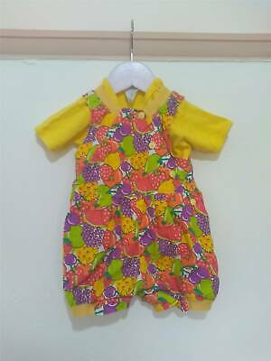 Vintage Baby Girls Fruit Romper Suit Outfit 12-18 Months