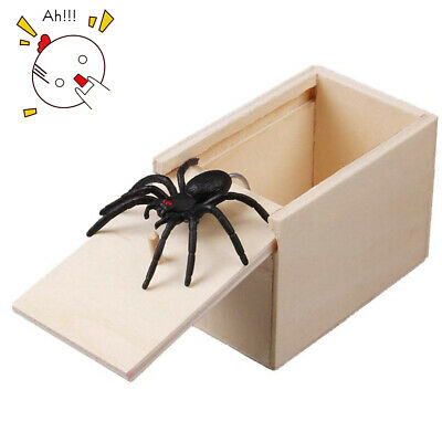 Funny Scare Spider Hidden in Case Prank Toy Scare Box Joke Trick Halloween Toys