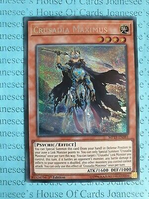 Crusadia Maximus MP19-EN081 Prismatic Secret Rare Yu-Gi-Oh Card 1st Edit New