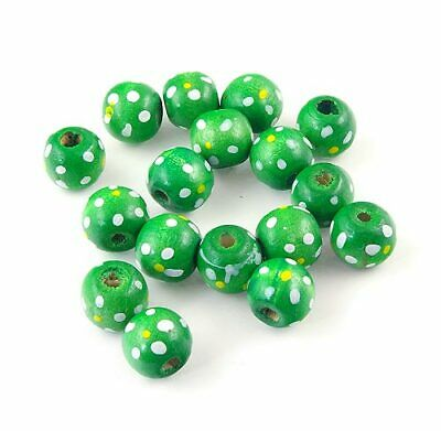 Spotty Oval Red Shiny Handmade Indian Glass Beads 17x12mm Pack of 5 B22//6