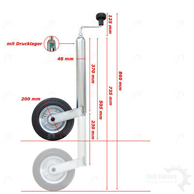 Dt Support Wheel with Steel Rim and Holder Wheel Nose Wheel Trailer Pendant