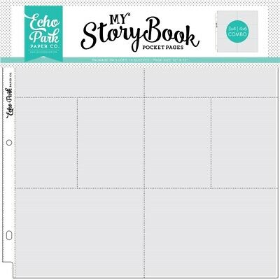 12x12 Inch Pocket Page - 4x6/3x4 Pockets (10 Sheets) (msbpp1204)