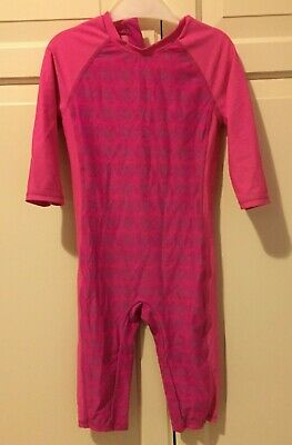 Girls All In One Pink Swimsuit Size 4-5