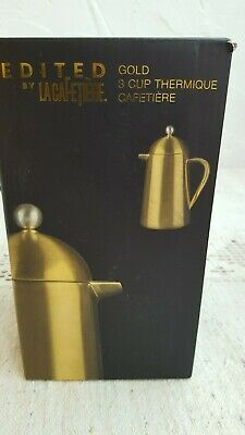 Edited by 'La Cafetiere' Gold 3Cup Thermique Double Walled