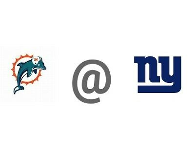 Giants vs Dolphins 12/15 1:00PM, 2 Lower Tier Seats, Sec 128 Row 11 with Parking