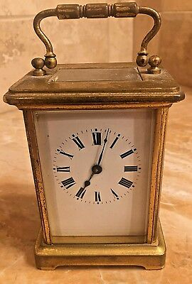 A 19th Century Miniature 8 Day French Case Covered Carriage Clock Original Oner!
