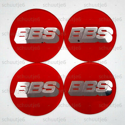 4x 80mm BBS Car Wheel Center Hub Cap Caps Emblem Badge Decal Sticker Stickers