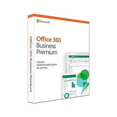 Microsoft Office 365 Business Premium - Box Pack (1 Year) - 1 Perso... NEW