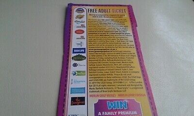 Free Adult Ticket Voucher Alton Towers Thorpe Park Tussauds Legoland London Eye