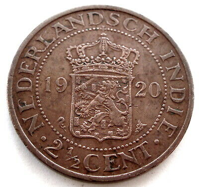 Netherlands East Indies 2-1/2 Cents 1920 Km#316 Mm8.1