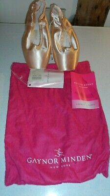 Pink Satin Pointe Shoes with Leather Soles Wide Box Supple by Gaynor Minden BNWT