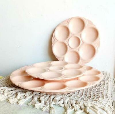Pink Oyster Plates and Serving Platter French Art Deco Digoin Sarreguemines