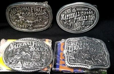 Hesston National Finals Rodeo Belt Buckle NFR YOUTH Lot of 4 1994 1995 1998 1999