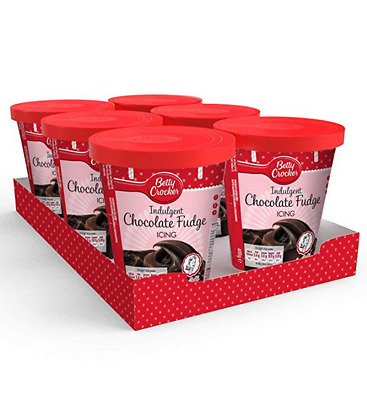 6x Betty Crcoker Chocolate Fudge Icing 400g, Betty Crocker Icing, Frosting, Cake