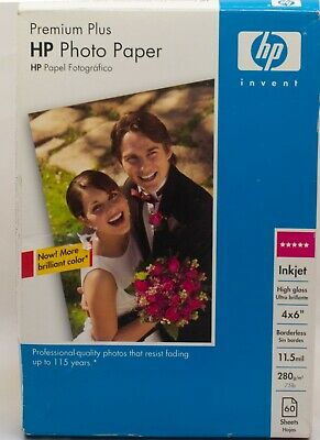 100ct~HP Premium 4X6 Gloss Photo Paper~~#1~Photo~Paper~Borderless