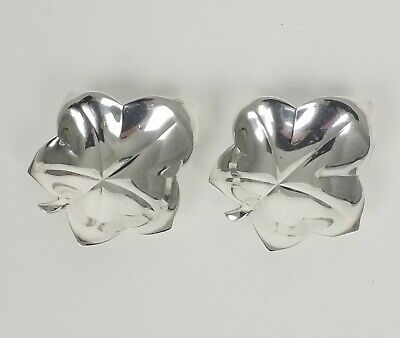 Pair Of Tiffany & Co Sterling Silver .925 Leaf Nut Dishes Free Shipping