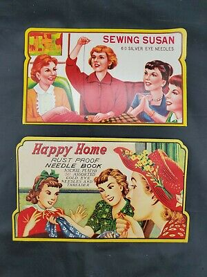 Sewing Susan And Happy Home Carded Silver Needle Books