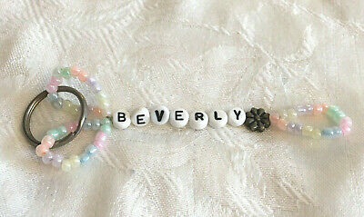 BEVERLY personalized beaded keychain-NEW