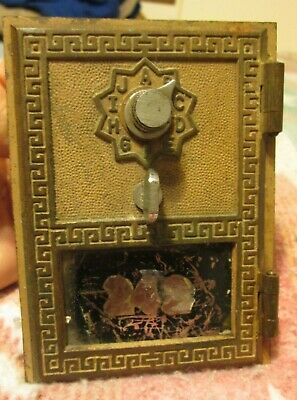 Vintage 1950's U.S. Post Office box door brass combination Keyless Lock Co.