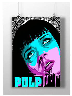 Mia Wallace Pulp Fiction Classic Movie Canvas Wall Art Picture Print 50cmx76cm