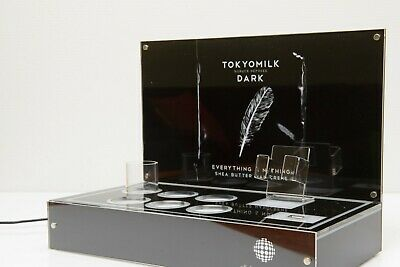 Counter top retail pop light box display with magnetic card holders